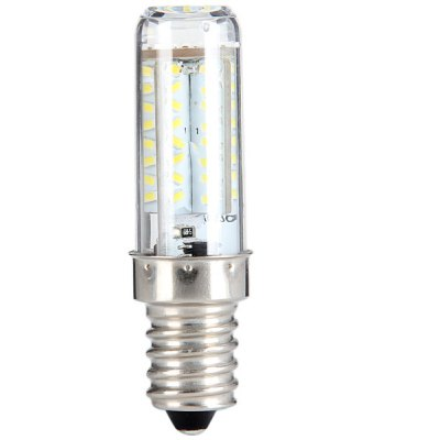 5W E14 450LM 3014 SMD 70 - LED Transparent Dimmable Corn Bulb with White Light  -  AC 220V