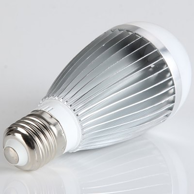 9W 800LM Silver E27 20 LEDs Globe Bulb with Remote Control Function (6000 - 6500K Controller Included)