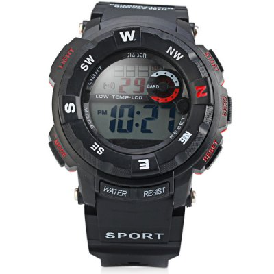Jiasen 952D Military LCD Watch Light Date Stopwatch Week for SportsSports Watches<br>Jiasen 952D Military LCD Watch Light Date Stopwatch Week for Sports<br><br>People: Unisex table<br>Style: Fashion&amp;Casual<br>Color: Red, Blue, Green, Orange<br>Shape of the dial: Round<br>Movement type: Light table<br>Display type: Numbers<br>Case material: Rubber/Silicon/Silica Gel<br>Band material: Rubber<br>Clasp type: Pin buckle<br>Special features: Calendar, Stopwatch, Week, Date<br>Waterproof: Life water resistant<br>The dial thickness: 1.5 cm / 0.6 inches<br>The dial diameter: 5.0 cm / 2.0 inches<br>The band width: 2.0 cm / 0.8 inches<br>Product weight: 47 g<br>Product size (L x W x H) : 26.3 x 5.0 x 1.5 cm / 10.3 x 2.0 x 0.6 inches<br>Package contents: 1 x Watch