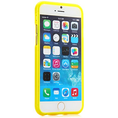 ФОТО Practical Soft TPU Material Back Cover Case with Solid Color for iPhone 6