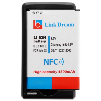 Гаджет   Link Dream NFC 3.7V 4500mAh Battery and US Plug Phone Battery Charger for Samsung Galaxy Note3 N9000 N900 N900A Samsung Batteries