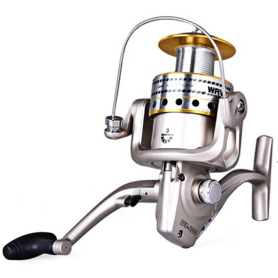 TFB-6000 3 Stainless Steel Ball Bearing Long Cast Spool Fishing Reel Aluminum Spool