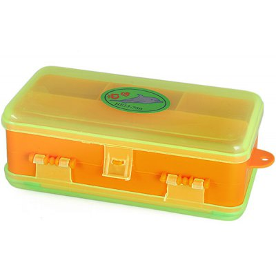 HE13 - 750 Practical Plastic Small Transparent Tool Box with Tangled Lines Device Design for Fishing Accessories  -  Orange