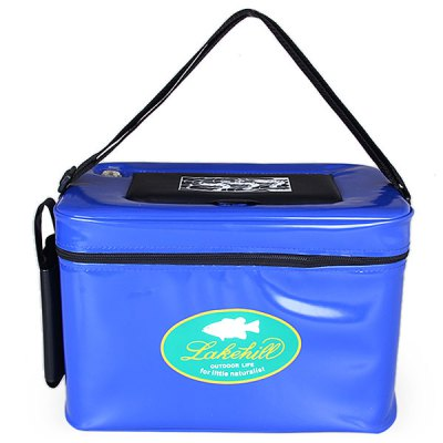 Гаджет   Big Size Zipper Shrimp Box with Small Opening Air Hole and Strap for Shrimping (Blue) Fishing Tools and Accessories