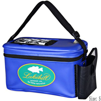 Small Size Zipper Shrimp Box with Small Opening Air Hole and Strap for Shrimping (Blue)