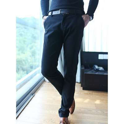 Гаджет   Casual Style Slimming Straight Leg Zipper Fly Color Block Pockets Thicken Men