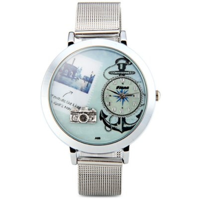 Fiana A68 Camera Pattern Female Quartz Watch Round Dial Steel WristbandWomens Watches<br>Fiana A68 Camera Pattern Female Quartz Watch Round Dial Steel Wristband<br><br>Watches categories: Female table<br>Available color: Silver<br>Style : Fashion&amp;Casual<br>Movement type: Quartz watch<br>Shape of the dial: Round<br>Display type: Pointer<br>Case material: Stainless steel<br>Case color: Silver<br>Band material: Steel<br>Clasp type: Pin buckle<br>Band color: Silver<br>The dial thickness: 0.8 cm / 0.3 inches<br>The dial diameter: 4.0 cm / 1.6 inches<br>The band width: 1.6 cm / 0.6 inches<br>Product weight: 0.048 kg<br>Product size (L x W x H) : 23.5 x 4.0 x 0.8 cm / 9.3 x 1.6 x 0.3 inches<br>Package contents: 1 x Watch