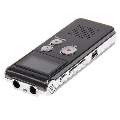 Professional 8GB GH609 Digital Voice Recorder with Time Display and Stereo Recording Function - BlackMP3 &amp; MP4 Players<br>Professional 8GB GH609 Digital Voice Recorder with Time Display and Stereo Recording Function - Black<br>