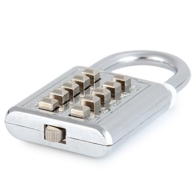 Durable Resettable Ten Number Combination Padlock Push - Button Coded LockHome Gadgets<br>Durable Resettable Ten Number Combination Padlock Push - Button Coded Lock<br><br>Type: Novelty, Practical<br>For: All<br>Material: Stainless Steel<br>Occasion: Office, School, Home, Outdoor<br>Color: Silver<br>Product weight   : 0.076 kg<br>Package weight   : 0.120 kg<br>Product size (L x W x H)   : 4.0 x 1.0 x 7.0 cm / 1.6 x 0.4 x 2.8 inches<br>Package size (L x W x H)  : 10 x 3 x 17 cm<br>Package contents: 1 x Combination Padlock