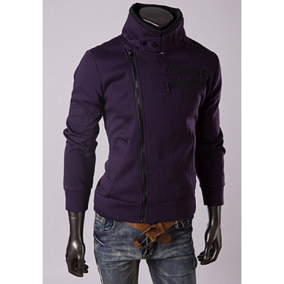 Trendy Long Sleeves Stand Collar Personality Multi-Zipper Design Slimming Thicken Mens Cotton Blend SweatshirtMens Hoodies &amp; Sweatshirts<br>Trendy Long Sleeves Stand Collar Personality Multi-Zipper Design Slimming Thicken Mens Cotton Blend Sweatshirt<br><br>Material: Polyester, Cotton<br>Clothing Length: Regular<br>Sleeve Length: Full<br>Style: Casual<br>Weight: 0.502KG<br>Package Contents: 1 x Sweatshirt