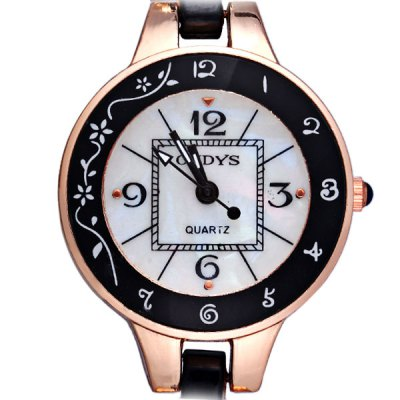 Oudys K201 Ladies Quartz  Bracelet Watch Round Dial Steel StrapMechanical Watches<br>Oudys K201 Ladies Quartz  Bracelet Watch Round Dial Steel Strap<br><br>Watches categories: Female table<br>Available color: Black, White<br>Style : Fashion&amp;Casual<br>Movement type: Quartz watch<br>Shape of the dial: Round<br>Display type: Pointer<br>Case material: Stainless steel<br>Band material: Steel<br>Clasp type: Buckle<br>Waterproof: Life water resistant<br>The dial thickness: 0.7 cm / 0.3 inches<br>The dial diameter: 3.0 cm / 1.2 inches<br>The band width: 1.0 cm / 0.4 inches<br>Product weight: 42 g<br>Product size (L x W x H) : 21 x 3.0 x 0.7 cm / 8.4 x 1.2 x 0.3 inches<br>Package contents: 1 x Watch