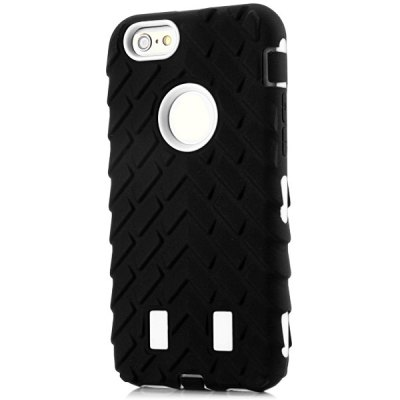 Fashionable Silicone and Plastic Material Tyre Texture Back Cover Case for iPhone 6  -  4.7 inches