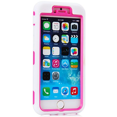 ФОТО Fashionable Silicone and Plastic Material High Quality Back Cover Case for iPhone 6  -  4.7 inches