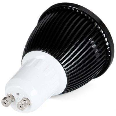 Гаджет   GU10 Based 5W COB Spot Lamp White Light Spot Light with Black Cover  -  500LM LED Light Bulbs