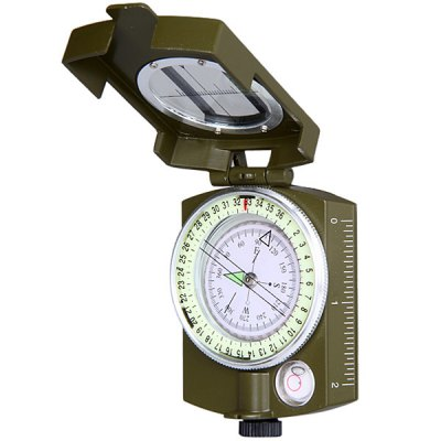 DC60 - 2A Practical Lensatic Compass with Neck Strap Tripod Connection for Hiking Camping