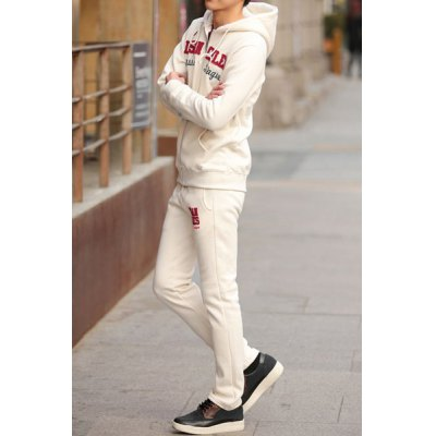 Гаджет   Stylish Hit Color Letter Embroidered Thicken Slimming Cotton Men