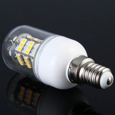 Sencart 3.5W E14 220LM 54 x SMD - 3528 Transparent Warm White LED Corn Lamp  -  AC 12 - 24VLED Light Bulbs<br>Sencart 3.5W E14 220LM 54 x SMD - 3528 Transparent Warm White LED Corn Lamp  -  AC 12 - 24V<br><br>Brand : Sencart<br>Base Type: E14<br>Type: Corn Bulbs<br>Output Power: 3.5W<br>Emitter Type: SMD-3528 LED<br>Total Emitters: 54 LEDs<br>Actual Lumen(s): 220LM<br>Voltage (V): AC 12-24V<br>Appearance: Transparent Cover<br>Features: Long Life Expectancy, Energy Saving, Low Power Consumption<br>Function: Home Lighting, Studio and Exhibition Lighting, Commercial Lighting<br>Available Light Color: Warm White, Cold White<br>Sheathing Material: Plastic, Aluminum Alloy<br>Product Weight: 0.023 kg<br>Package Weight: 0.07 kg<br>Product Size (L x W x H): 8 x 2.9 x 2.9 cm / 3.15 x 1.14 x 1.14 inches<br>Package Size (L x W x H): 13 x 9 x 4 cm<br>Package Contents: 1 x Corn Light