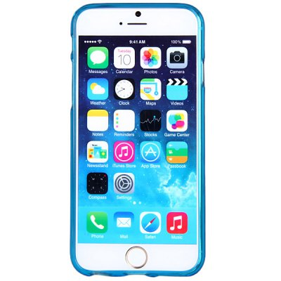 ФОТО High Quality Transparent TPU Material Pure Color Protective Back Cover Case for iPhone 6