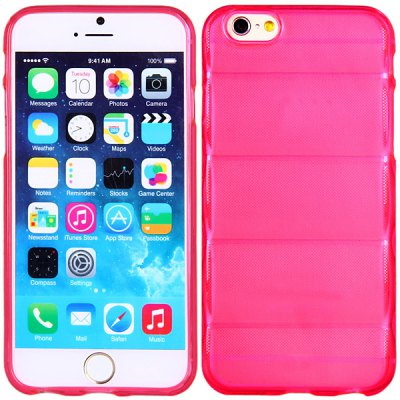 High Quality Transparent TPU Material Pure Color Protective Back Cover Case for iPhone 6