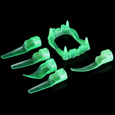 Detail - oriented Halloween Luminous Fingers Nails Teeth Set Fancy Ball Christmas Cosplay Props Party Fools Day Decoration