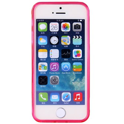 ФОТО High Quality Transparent TPU Material Pure Color Protective Back Cover Case for iPhone 5 5S