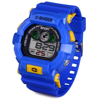 939 LED Military Watch Light Chronograph Week Date for Sports