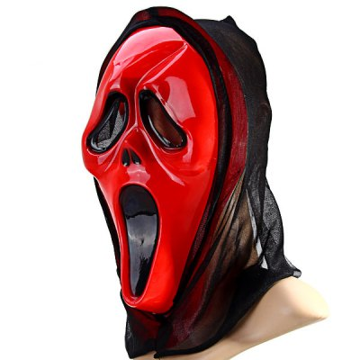 Фотография Detail - oriented Halloween Screaming Skull Mask with Bloody Face Fancy Ball Christmas Cosplay Props Party Fools Day Decoration
