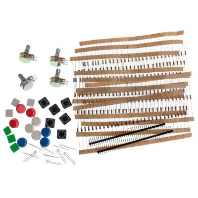 DZQJ - 01 High Performance DIY Resistor + LED + Digital Tube + Button Switch Kit for Arduin
