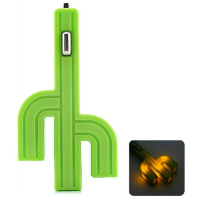 Cactus Style Car Charger with LED and Three USB Interface