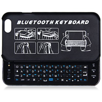 ФОТО PC Material Slide-out Luminous Wireless Bluetooth 3.0 Keyboard Back Case with Ultra Slim Design for iPhone 6 6S 4.7 inches