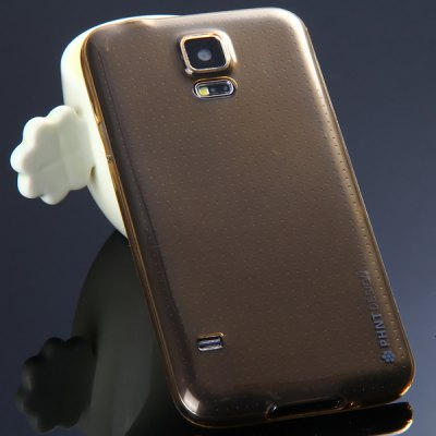 ФОТО High Quality Transparent TPU Material Protective Back Cover Case for Samsung Galaxy S5 i9600 SM - G900