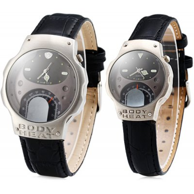 Body Heat Couple Quartz Watch