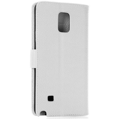 ФОТО Litchi Veins PC and PU Stand Protective Case with Card Holder for Samsung Galaxy Note 4 N9100