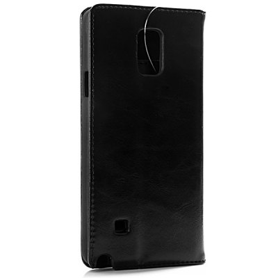 ФОТО High Quality Leather and Plastic Material Cover Case with Card Holder and Stand for Samsung Galaxy Note 4 N9100