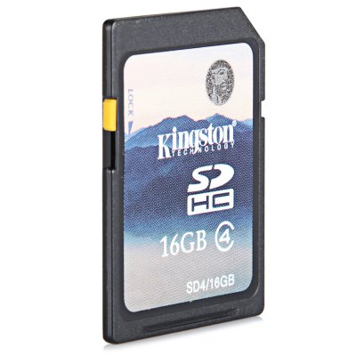 Kingston High Capacity 16GB Class 4 SDHC SD Memory Card Support FAT32