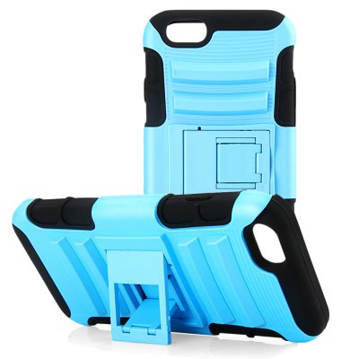 PC and Silicone Back Cover Case with Stand for iPhone 6 4.7 inch Screen