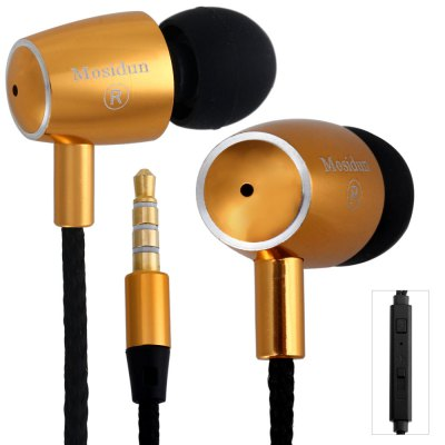 Фотография Mosidun M20 Spacecraft Design In - ear Earphone 1.2M Weaven Cable Headphone with Mic Universal 3.5MM Jack