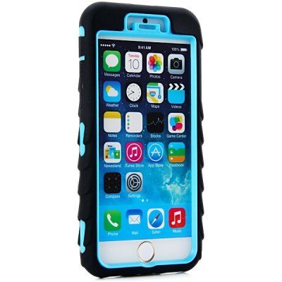 ФОТО Fashionable Silicone and Plastic Material Tyre Texture Back Cover Case for iPhone 6  -  4.7 inches