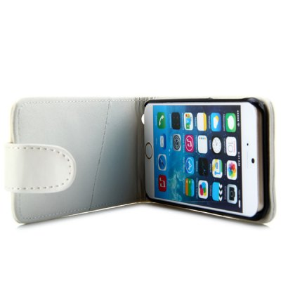 ФОТО Vertical Top Flip Cover Case with Artificial Leather and Plastic Material and Card Holder for iPhone 6