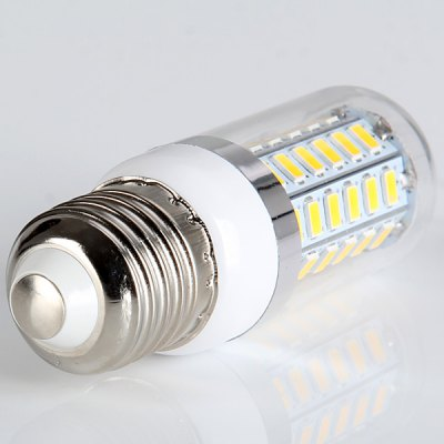 10W 1200LM SMD 5730 E27 Based Warm White 56 - LED Corn Bulb with Transparent Cover  -  200 - 240V