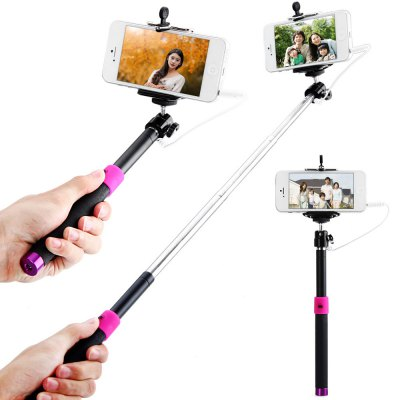 Selt-Timer Camera Monopod with Clip Bracket and 3.5mm Audio Cable