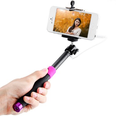 Fashionable RC Self Timer Stretch Camera Monopod with Clip Stand and 3.5mm Audio CableStands &amp; Holders<br>Fashionable RC Self Timer Stretch Camera Monopod with Clip Stand and 3.5mm Audio Cable<br><br>Type: Selfie Monopod<br>Features: with Cable<br>Compatibility: Nokia, HTC, Blackberry, Sony Ericsson, Samsung, iPhone, Motorola, LG<br>Color   : Red, Blue<br>Product weight : 0.118 kg<br>Package weight : 0.250 kg<br>Product size (L x W x H) : 24 x 2.8 x 1.7 cm / 9.4 x 1.1 x 0.7 inches<br>Package size (L x W x H) : 30 x 12 x 6 cm<br>Package Contents: 1 x Self-timer Camera Monopod, 1 x Clip Holder