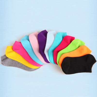 Pair of Chic Women's Pure Color Socks от GearBest.com INT