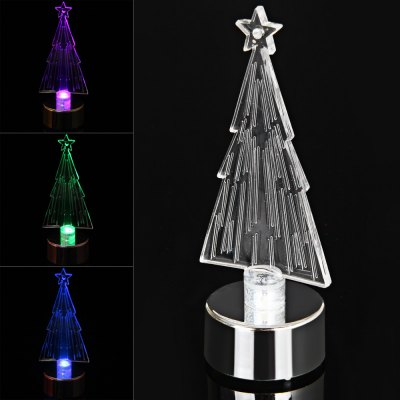 PZCD MY - 10 Battery Operated Acrylic Decorationg Christmas Tree for Chrismas Ornament от GearBest.com INT