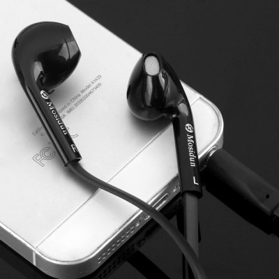 Mosidun MSD - M15 Flat Line In - ear Earphone 1.2M Cable Headphone with Microphone Universal 3.5MM Jack