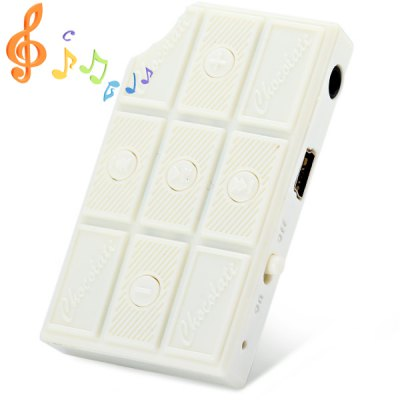 Chocolate Shape MP3 Player Stereo Sound with TF Card Slot