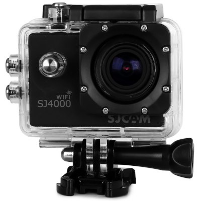 SJCAM SJ4000 WiFi 1080P 1.5 inch LCD Action Camera Sport DVSJCAM SJ4000 WiFi 1080P 1.5 inch LCD Action Camera Sport DV<br><br>Brand: SJCAM<br>Chipset Name: Novatek<br>Model: SJ4000 WiFi<br>Type: Sports Camera<br>Max External Card Supported: SD 32G (not included)<br>Class Rating Requirements: Class 10 or Above<br>Screen size: 1.5inch<br>Screen type: LCD<br>Screen resolution: 960 x 240<br>Charge way: 3109<br>Working Time: 1080P about 70 minutes<br>Battery Type: Removable<br>Decode Format: H.264<br>Video format: MOV<br>Video Resolution: 1080P (1920 x 1080),720P (1280 x 720),VGA (640 x 480)<br>Video System: NTSC,PAL<br>Video Output : HDMI<br>Image Format : JPG<br>Audio System: Built-in microphone/speacker (AAC)<br>HDMI Output: Yes<br>Interface Type: HDMI,USB 2.0<br>Language: English,French,German,Italian,Japanese,Korean,Russian,Simplified Chinese,Spanish,Traditional Chinese<br>Loop-cycle Recording : Yes<br>Product weight: 0.059 kg<br>Package weight: 0.722 kg<br>Product size (L x W x H): 6.00 x 4.00 x 2.50 cm / 2.36 x 1.57 x 0.98 inches<br>Package size (L x W x H): 24.00 x 17.00 x 7.00 cm / 9.45 x 6.69 x 2.76 inches<br>Package Contents: 1 x DV (with waterproof case), 2 x Helmet Mount Set, 1 x Bycycle Mount Set, 1 x Clip, 5 x Ribbon, 1 x USB Cable, 1 x Adaptor, 1 x Wipper, 1 x User Manual