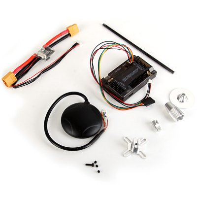 APM2.6 Flight Control Board + GPS Module + Power Module + Folding Antenna Mount Holder