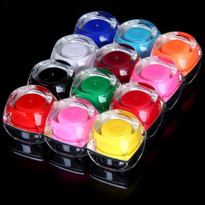 Fashionable Nail Art Supplies 12 Pure Opaque Colors UV Gel Professional Manicurist Necessaries
