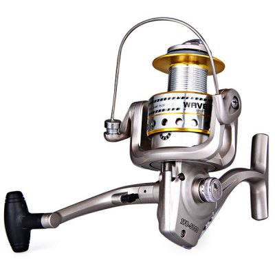 Portable Fishing Reel Tackle Gear Ratio 5.1:1 TFB - 5000 with 3BB Stainless Steel Ball Bearing Long Cast Spool Spinning Reel